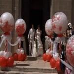Addobbi in Palloncini Perlati per Uscita Chiesa Nuziale
