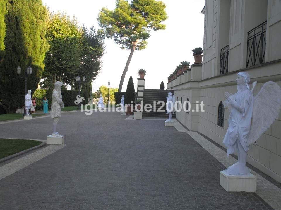Statue Viventi per animazione originale di accoglienza ospiti in Ricevimenti e Party