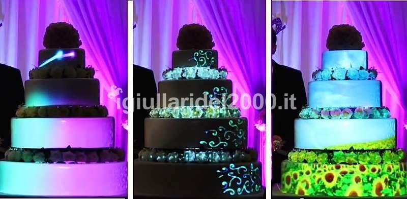 Show delle Luci su Taglio Torta Nuziale (Mapping Cake)