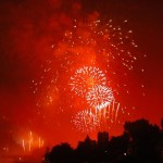 fuochi d'artificio per depliant