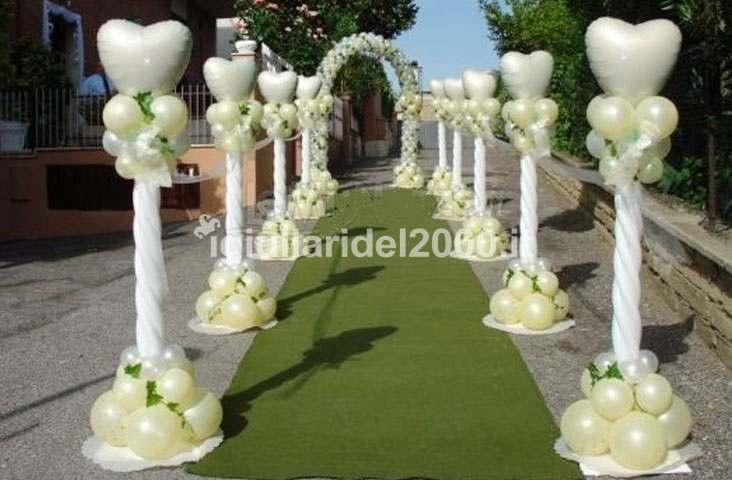 Addobbi con palloncini per matrimonio artisti di strada - Decorazioni matrimonio palloncini ...