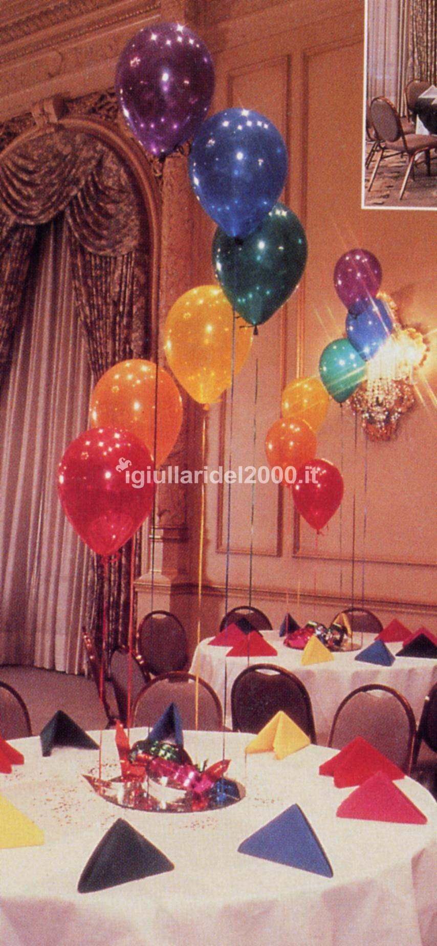 Addobbi con palloncini artisti di strada i giullari del 2000 - Addobbi tavoli per 18 anni ...