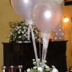 Bouquet di Palloncini per tavoli banchetto nuziale