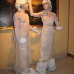 Coppia Statue Viventi per Accoglienza Matrimoni