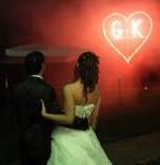Cuore con Iniziali in Fuoco per Sposi