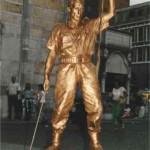 Statua Vivente Soldato Gold