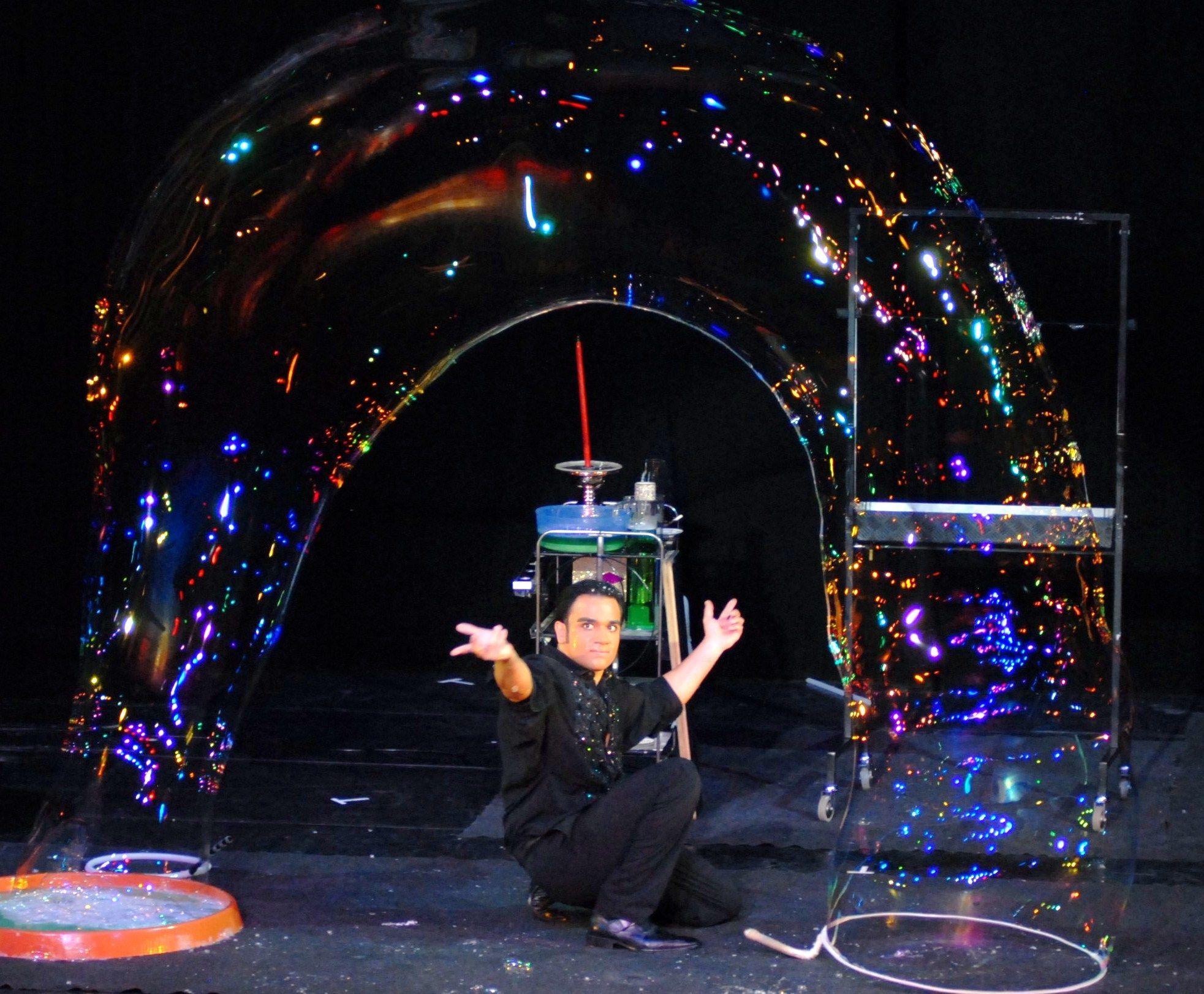 Grande Show Bolle di Sapone