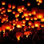 Effetto Speciale di Volo Lanterne di Fuoco al Taglio Torta...Euro......*