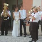 Mini Band Citta in Festa per uscita chiesa nuziale