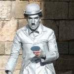 Statua Vivente Gentlemen Inglese White