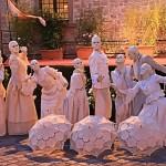 Equipe Statue Viventi Liberty per accoglienza matrimoni