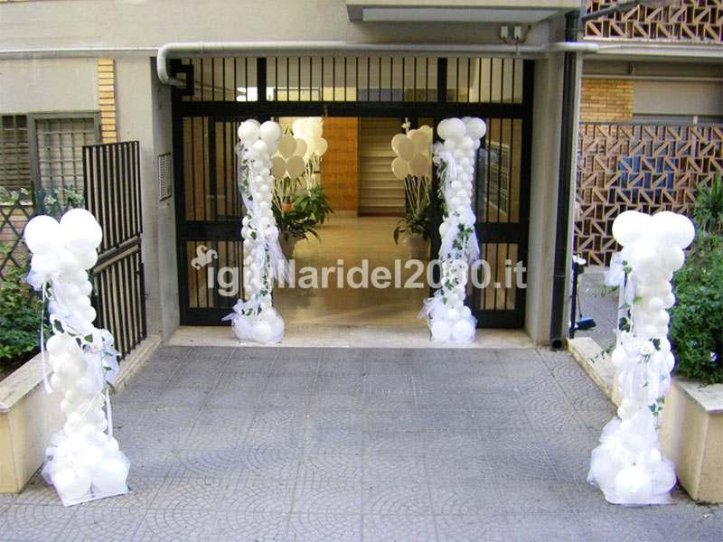 Addobbi con palloncini per matrimonio artisti di strada i giullari del 2000 - Addobbi matrimonio casa della sposa ...