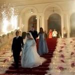 fontane di fuoco per passaggio sposa