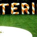 Scenografia in Palloncini con nome festeggiato/a