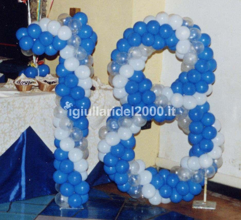 Palloncini per festa 18 anni ox41 regardsdefemmes - Addobbi tavoli per 18 anni ...