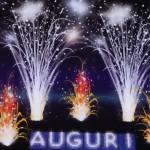 scritta di fuoco Auguri