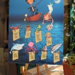 tableau matrimonio a tema marino by Caricaturista I Giullari del 2000