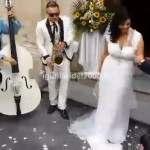 Mini Band Città in Festa per Uscita Sposi dalla Chiesa Nuziale 1- snapshot