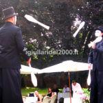 Giocolieri Eleganti in Blacck oppure in White per Accoglienza Sposi