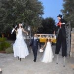coppia Trampolieri Sposo e Sposa per accoglienza ospiti